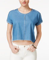 Velvet Heart Meadow Raw-Edge Crop Top