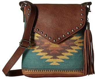 M&F Western Zapotec Messenger (Brown) Messenger Bags
