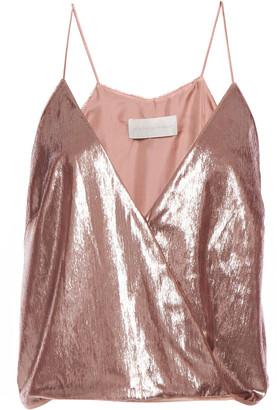 Mason by Michelle Mason Wrap-effect Tinsel Camisole