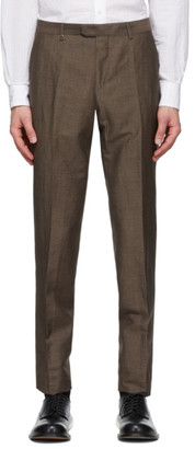 Ermenegildo Zegna Brown Slim Wool Trousers