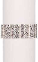 Lois Hill Sterling Silver Cutout Rectangular Bracelet
