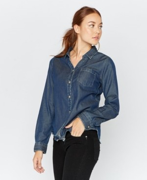 Thread and Supply Thread Supply Chambray Long Sleeve Button Down
