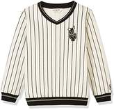 Kid Nation Kid's Stripe Pullover Sweatshirt for Boys and Girls XL