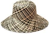 Borneo Fisherman Bucket Straw Hat In Black