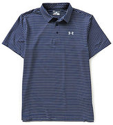 Under Armour Playoff Heather Horizontal Stripe Polo Shirt