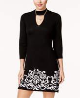 Sequin Hearts Juniors' Choker Sweater Dress
