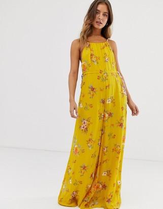 Free People Georgia floral jumpsuit-Gold