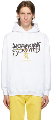 Vetements White Antwerpen Screwed Hoodie