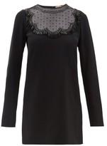 No.21 No. 21 - Beaded Crepe Shift Dress - Womens - Black
