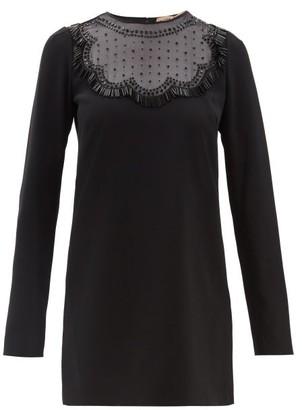 No.21 No. 21 - Beaded Crepe Shift Dress - Black