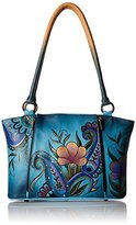 Anuschka Handpainted Leather 7024-DPF Large Organizer Tote