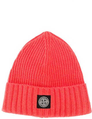 Stone Island Junior Logo Patch Beanie Hat
