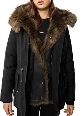 Mackage Charlene Hooded Shearling Trim Parka