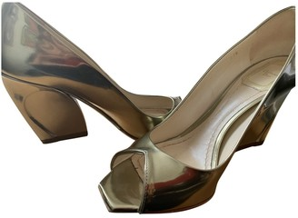 Christian Dior Gold Patent leather Heels