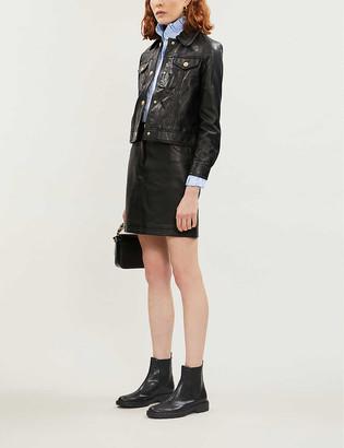 Claudie Pierlot Cropped leather jacket