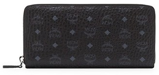 MCM Large Visetos Original Zip-Around Wallet