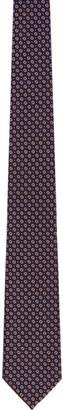 Ermenegildo Zegna Pink Silk Flowers Tie