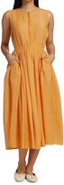 Thumbnail for your product : Merlette New York Maya Belted Textured Sleeveless Dress
