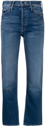 Mother Tomcat Cropped Kick Flare Jeans
