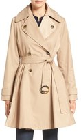 CeCe 'Sarah' Belted Skirted Double Breasted Trench