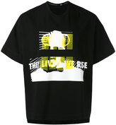 Julius elephant print boxy T-shirt - men - Cotton - I