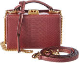 Mark Cross Grace Mini Python Box Bag
