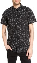 Tavik Men's 'Porter' Print Poplin Short Sleeve Woven Shirt