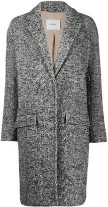Dondup single-breasted chevron coat