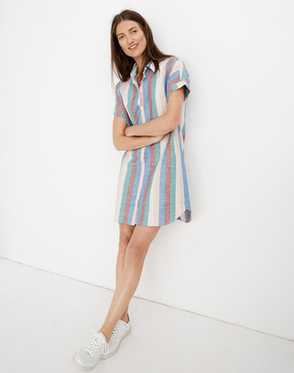 Madewell Central Shirtdress in Flagstaff Stripe