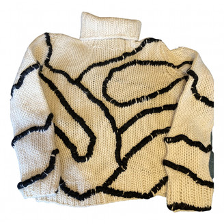 Dirk Bikkembergs Ecru Wool Knitwear