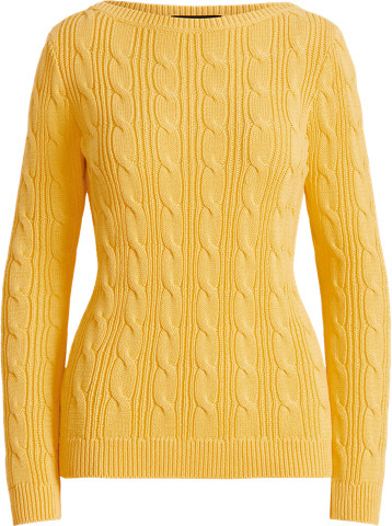 Thumbnail for your product : Ralph Lauren Cable-Knit Cotton Boatneck Jumper