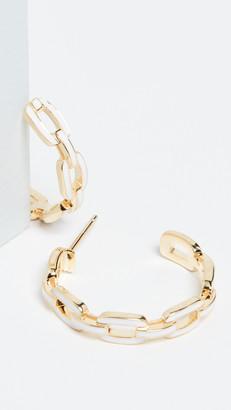 Jennifer Zeuner Jewelry Carmine Small Hoop Earrings