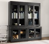 Pottery Barn Reynolds Glass Door Bookcase