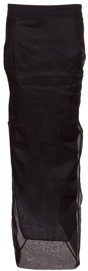 Rick Owens long mesh skirt