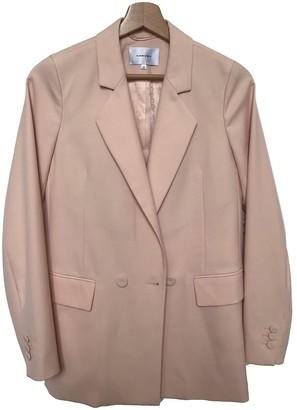 Carven Pink Wool Jacket for Women