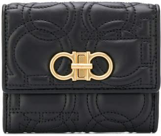 Salvatore Ferragamo Gancino Quilting Leather Wallet