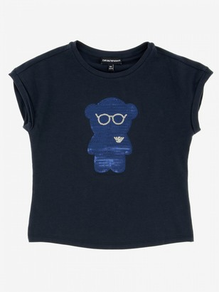 Emporio Armani T-shirt With Sequin Bear