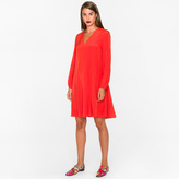 Paul Smith Women's Orange Silk A-Line Dress