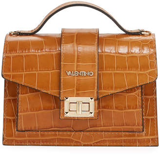 Mario Valentino Valentino By Titti Croc-Embossed Leather Shoulder Bag