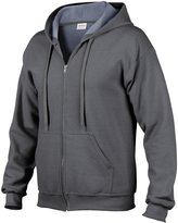 Gildan Heavy Blend Mens Vintage Full Zip Hooded Sweat / Hoodie (M)