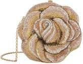 Judith Leiber Embellished Rose Clutch Bag, Gold