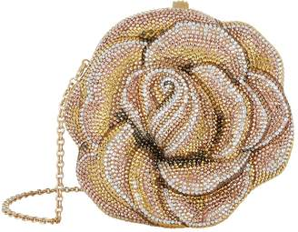 Judith Leiber Crystal Rose Clutch Bag