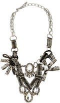 Oscar de la Renta Beaded Crystal Statement Necklace