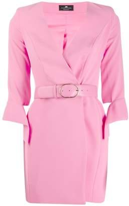 Elisabetta Franchi belted fitted mini dress