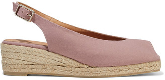 Castaner Dosalia Cotton-canvas Wedge Espadrille Sandals