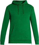 Balmain Side-zip hooded cotton-jersey sweatshirt