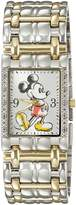 Disney Mickey Mouse Men's W002510 Mickey Mouse Two-Tone Stainless Steel Watch