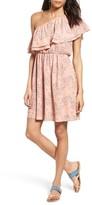 Lush Women's Ruffle One-Shoulder Dress