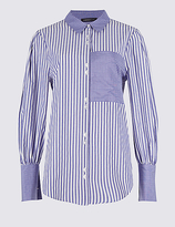 Limited Edition Cotton Blend Striped Long Sleeve Shirt