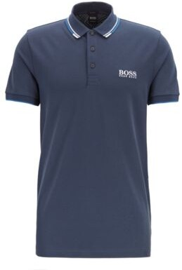 Regular fit piqu polo shirt with quick-dry technology